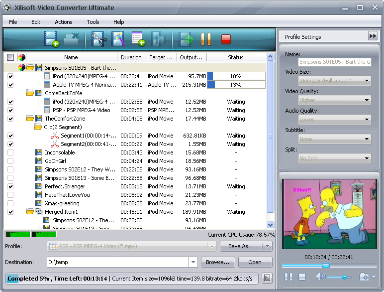 عملاق التحويل الشهيرXilisoft Video Converter Ultimate 5.1.17.1027