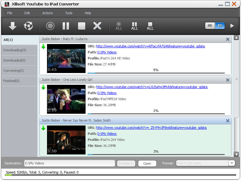 Youtube video conversion tool
